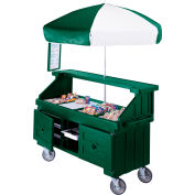 "Cambro CVC724519 - Camcruiser Vending Cart, 4 full size pans, 6"" deep, Green"