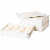 Cambro DB18263CW148 - Pizza Dough Box, White, Polycarbonate - Pkg Qty 6
