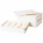 Cambro DBC1826P148 - Cover, Pizza Dough Box, White, Polypropylene - Pkg Qty 6
