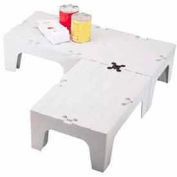 """Dunnage Rack, Slotted Top, 21""""W x 60""""D, Speckled Gray"""
