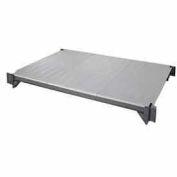"Camshelving® Elements Mobile Shelf Plate Kit, 24""W x 54""L, Solid, Brushed Graphite"