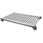 "Camshelving® Elements Mobile Shelf Plate Kit, 24""W x 60""L, Vented, Brushed Graphite"