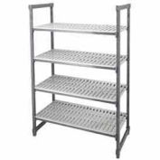 "Camshelving® Elements Starter Unit, 18""D x 36""W x 64""H, 4 Shelf, Brushed Graphite"