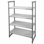 "Camshelving® Elements Starter Unit, 18""D x 54""W x 64""H, 4 Shelf, Brushed Graphite"