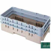 """Cambro HBR578119 - Camrack Base Rack, Half Size, 6-1/2"""" Compartment Height, Sherwood Green - Pkg Qty 4"""
