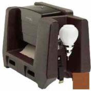Handwash Station With Soap Dispenser & Multi-Fold Paper Towel Dispenser, Dark Brown