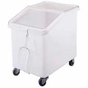 Cambro IBS37148 - Ingredient Bin, Mobile, 37 Gallon Capacity, White with Clear Cover