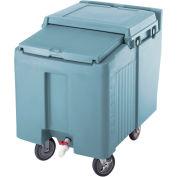 Cambro ICS175L401 - Ice Caddy, Slate Blue, 175 Lbs. Cap., Short, 2 Fixed, 2 Swivel, 1 with Brake