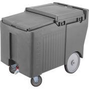 "Cambro ICS175LB191 - Ice Caddy, Gray, 125 Lbs. Cap, Short, 2 Swivel, 1 w/Brake, 2, 10"" Easy Wheels"