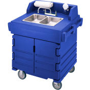 Cambro KSC402186 - Camkiosk Hand Sink Cart, Navy Blue