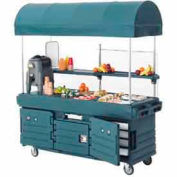 "Cambro KVC854C192 - CamKiosk Cart 4 Pan Wells and Canopy, 85-1/8"" x 33-1/2"" x 94"", Granite Green"