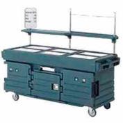 Cambro KVC856191 - CamKiosk Cart 6 Pan Wells, 85-1/8x33-1/2x70-1/2, Granite Gray