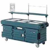 Cambro KVC856192 - CamKiosk Cart 6 Pan Wells, 85-1/8x33-1/2x70-1/2, Granite Green