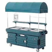 Cambro KVC856C192 - CamKiosk Cart 6 Pan Wells and Canopy, 85-1/8x33-1/2x94, Granite Green