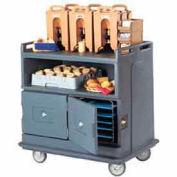 Cambro MDC24F191 - Beverage Service Cart Flat Top, 44-1/2 x 30 x 44, Granite Gray