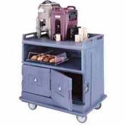 Cambro MDC24F192 - Beverage Service Cart Flat Top, 44-1/2 x 30 x 44, Granite Green