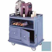 Cambro MDC24F401 - Beverage Service Cart Flat Top, 44-1/2 x 30 x 44, Slate Blue
