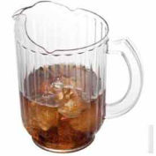 "Cambro PE600CW135 - Pitcher, 60 Oz, 7-7/8""H x 7-3/8""D, Ice-Control Countered Lip, Slotted Base, - Pkg Qty 6"