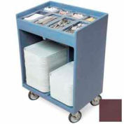 Cambro TC1418131 - Tray and Silver Cart (with Pans and Cover) Dark Brown NSF