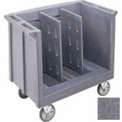 Cambro TDC30191 - Dish/Tray Cart Adjustable with 2 Dividers Granite Gray NSF