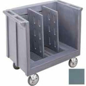 Cambro TDC30401 - Dish/Tray Cart adjustable with 2 dividers Slate Blue NSF