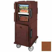 Cambro UPCHT800131 - Ultra CamCart Heated Food Pan Carrier, Heated Top Door, Front Loading, Brown