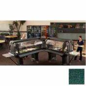 "Cambro VBRL6519 - Versa Food Bars™Serving Buffet, Cold Food, 72"" x 29"" (Low), Kentucky Green"