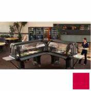 "Cambro VBRLHD5158 - Versa Food Bars Serving Buffet, Cold Food, 60"" x 29"" Low, Hot Red"