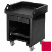 Cambro VCSHD158 - Versa Cash Register Cart Lockable Center Drawer, Heavy Duty Casters, Hot Red