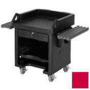 Cambro VCSWR158 - Versa Cash Register Cart Lockable Center Drawer, Hot Red w/Tray Rails