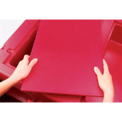 """Cambro WCR1220158 - Vending Cart Cover for Food well, Full Size (13"""" x 21""""), Hot Red"""