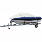 "Classic Accessories® Lunex RS-2 Boat Cover 17' - 19', 102"" Beam Linen/Navy - 20-134-114601-00"