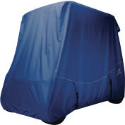 Classic Accessories Fairway Fadesafe Golf Car Quick-Fit Cover, Long Roof, Navy - 40-044-345501-00