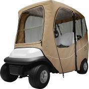 Classic Accessories Fairway Deluxe Golf Car Enclosure, Short Roof, Khaki - 40-049-335801-00