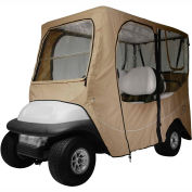 Classic Accessories Fairway Deluxe Golf Car Enclosure, Long Roof, Khaki - 40-050-345801-00
