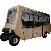 Classic Accessories Fairway Deluxe Golf Car Enclosure, Extra Long Roof, Khaki - 40-051-345801-00