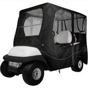 Classic Accessories Fairway Deluxe Golf Car Enclosure, Long Roof, Black - 40-055-340401-00