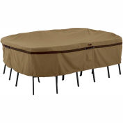 Classic Accessories Hickory Table and Chair Cover 55-214-032401-EC Rectangular/Oval, Medium, Tan