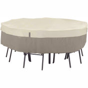 Classic Accessories Belltown Round Table and Chair Cover 55-253-011001-00 Large, Grey