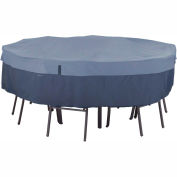 Classic Accessories Belltown Round Table and Chair Cover 55-275-015501-00 Medium, Blue