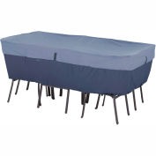 Classic Accessories Belltown Rectangular/Oval Table and Chair Cover 55-278-015501-00 Medium, Blue