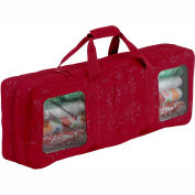Seasons Debossed Fabric Wrapping Supplies Organizer and Storage Duffel
