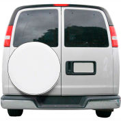 "OverDrive Custom Fit Spare Tire Cover - 24"" - 25"" Dia., White"