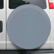 """OverDrive Universal Fit Spare Tire Cover - 26.75"""" - 29.75"""" Dia., Grey"""