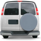 """OverDrive Custom Fit Spare Tire Cover - 25.5"""" - 26.5"""" Dia., Grey"""