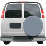 """OverDrive Custom Fit Spare Tire Cover - 26.75"""" - 27.75"""" Dia., Grey"""