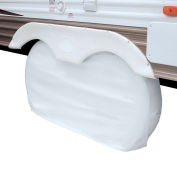 "Dual Axle Wheel Cover, Snow White, 27"" Wheel Diameter"