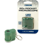 Carson® MicroMini 20x LED and UV Lighted Pocket Microscope - Green