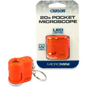 Carson® MicroMini 20x LED and UV Lighted Pocket Microscope - Orange