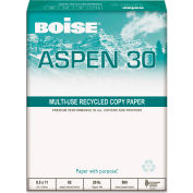 """Boise® ASPEN 0.3 Recycled Office Paper 54901, 8-1/2"""" x 11"""", White, 10 Reams/Carton"""